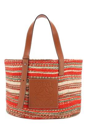 Женская сумка-шопер loewe x paula's ibiza LOEWE разноцветного цвета, арт. A657T88X01 | Фото 1