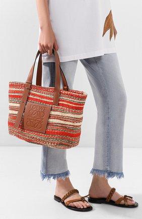 Женская сумка-шопер loewe x paula's ibiza LOEWE разноцветного цвета, арт. A657T88X01 | Фото 2
