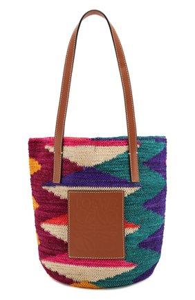 Женская сумка-шопер loewe x paula's ibiza LOEWE разноцветного цвета, арт. A223100X02 | Фото 1