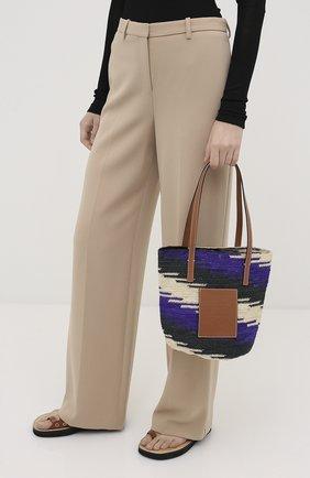 Женская сумка-шопер loewe x paula's ibiza LOEWE разноцветного цвета, арт. A223100X02 | Фото 2