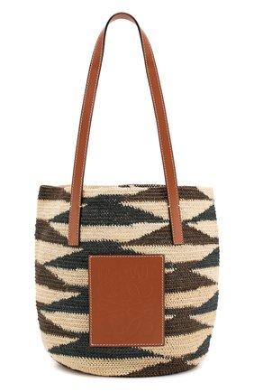 Женская сумка loewe x paula's ibiza LOEWE бежевого цвета, арт. A223100X01 | Фото 1