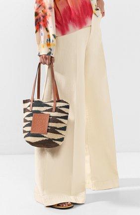 Женская сумка loewe x paula's ibiza LOEWE бежевого цвета, арт. A223100X01 | Фото 2