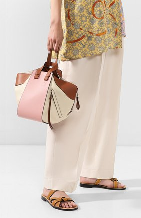 Женская сумка hammock small loewe x paula's ibiza LOEWE розового цвета, арт. 387.30YS35   Фото 2