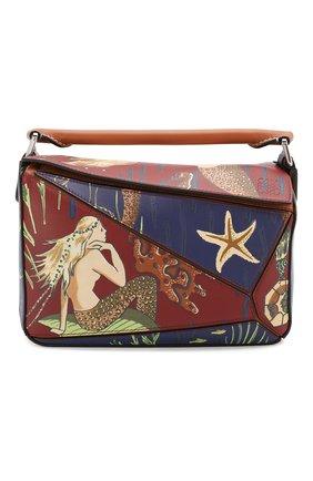 Женская сумка puzzle small loewe x paula's ibiza LOEWE темно-синего цвета, арт. 328.06.S21   Фото 1