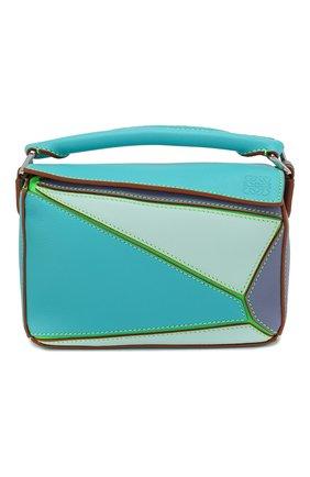 Женская сумка puzzle mini loewe x paula's ibiza LOEWE голубого цвета, арт. 322.35FU95 | Фото 1