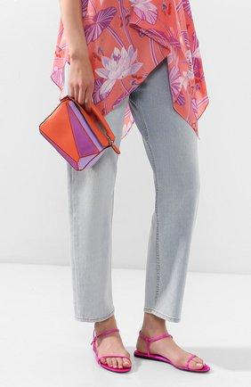 Женская сумка puzzle mini loewe x paula's ibiza LOEWE оранжевого цвета, арт. 322.35FU95   Фото 2