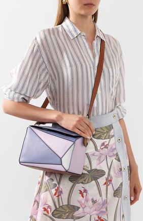 Женская сумка puzzle small loewe x paula's ibiza LOEWE сиреневого цвета, арт. 322.30YS21   Фото 2