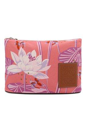 Женский клатч loewe x paula's ibiza LOEWE розового цвета, арт. 128.17AC63 | Фото 1