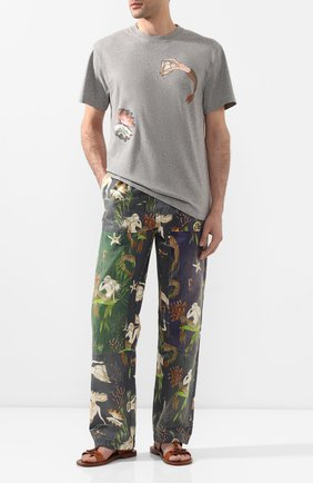 Мужская хлопковая футболка loewe x paula's ibiza LOEWE серого цвета, арт. H616341X48 | Фото 2