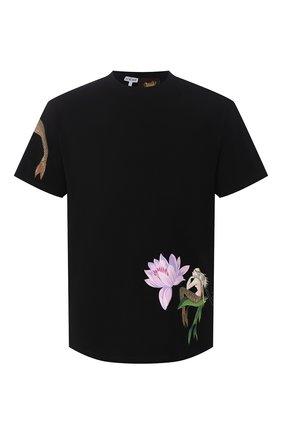 Мужская хлопковая футболка loewe x paula's ibiza LOEWE черного цвета, арт. H616341X47 | Фото 1