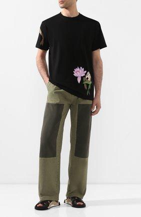 Мужская хлопковая футболка loewe x paula's ibiza LOEWE черного цвета, арт. H616341X47 | Фото 2