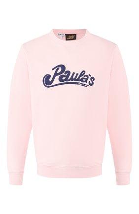 Мужской хлопковый свитшот loewe x paula's ibiza LOEWE светло-розового цвета, арт. H616341X44 | Фото 1