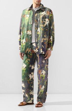 Мужская хлопковая рубашка loewe x paula's ibiza LOEWE разноцветного цвета, арт. H616337X79 | Фото 2