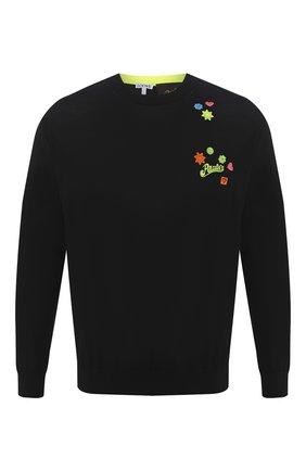 Мужской шерстяной свитер loewe x paula's ibiza LOEWE черного цвета, арт. H616333X10 | Фото 1