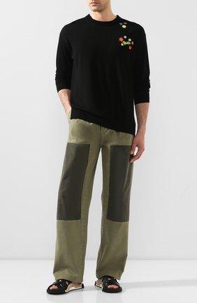 Мужской шерстяной свитер loewe x paula's ibiza LOEWE черного цвета, арт. H616333X10 | Фото 2