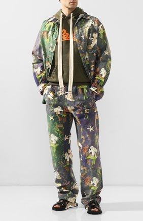 Мужской хлопковые брюки loewe x paula's ibiza LOEWE разноцветного цвета, арт. H616331X67 | Фото 2
