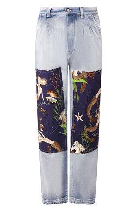 Мужские джинсы loewe x paula's ibiza LOEWE голубого цвета, арт. H616331X38 | Фото 1