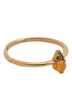 Женское кольцо из золота с опалом и цаворитами MOONKA STUDIO золотого цвета, арт. op-sr-tsv   Фото 1
