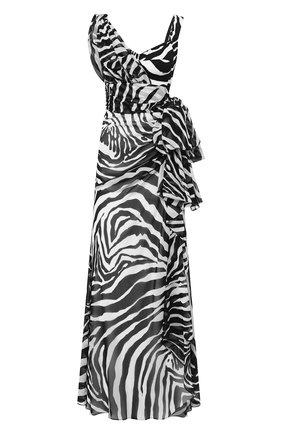 Женское платье-макси DOLCE & GABBANA черно-белого цвета, арт. F6I1PT/IS1D0 | Фото 1