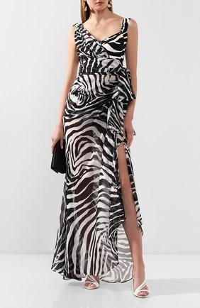 Женское платье-макси DOLCE & GABBANA черно-белого цвета, арт. F6I1PT/IS1D0 | Фото 2