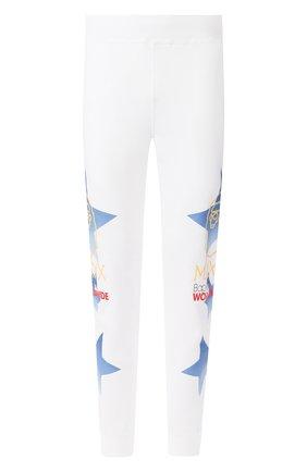 Мужской хлопковые джоггеры BAPE белого цвета, арт. 1G30152018   Фото 1
