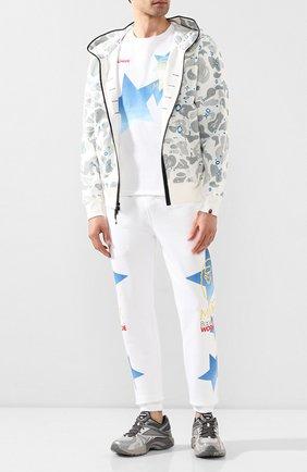 Мужской хлопковые джоггеры BAPE белого цвета, арт. 1G30152018   Фото 2