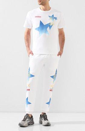 Мужская хлопковая футболка BAPE белого цвета, арт. 1G30110089   Фото 2