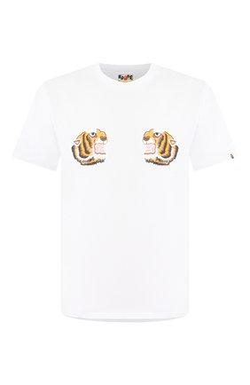 Мужская хлопковая футболка BAPE белого цвета, арт. 1G30110069 | Фото 1