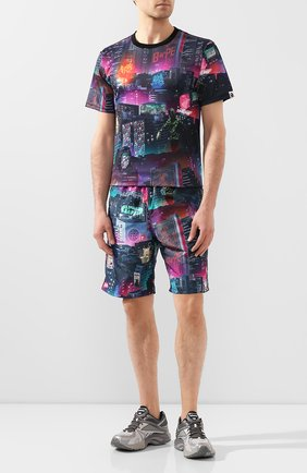 Мужская футболка BAPE разноцветного цвета, арт. 1G30109013 | Фото 2