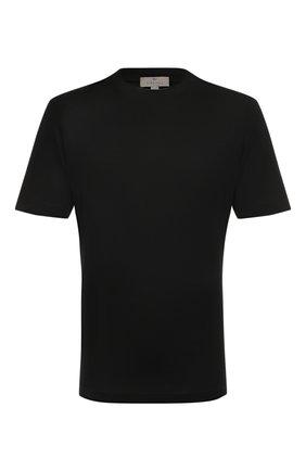Мужская хлопковая футболка CANALI черного цвета, арт. T0356/MJ00002 | Фото 1