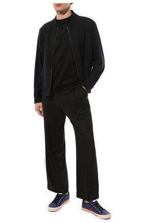 Мужская хлопковая футболка CANALI черного цвета, арт. T0356/MJ00002 | Фото 2