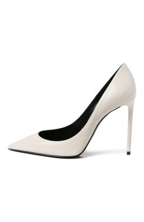 Женская кожаные туфли zoe SAINT LAURENT белого цвета, арт. 529733/1ZJ00 | Фото 2