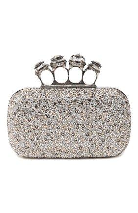 Женский клатч jewelled four ring ALEXANDER MCQUEEN бежевого цвета, арт. 583726/CSRDY | Фото 1