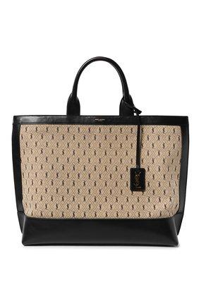 Женская сумка-шопер cabas SAINT LAURENT бежевого цвета, арт. 619757/HP41J | Фото 1