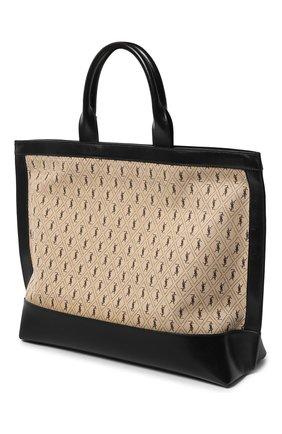 Женская сумка-шопер cabas SAINT LAURENT бежевого цвета, арт. 619757/HP41J | Фото 2