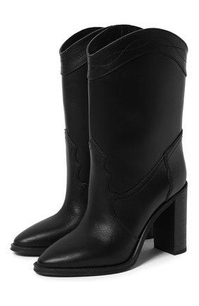 Женские кожаные ботильоны SAINT LAURENT черного цвета, арт. 620079/1UP00 | Фото 1
