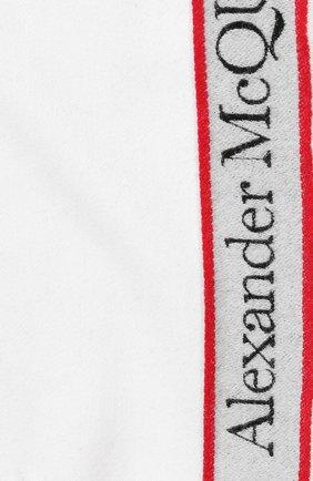 Мужские шарф из шерсти и кашемира ALEXANDER MCQUEEN белого цвета, арт. 626236/3777Q   Фото 2