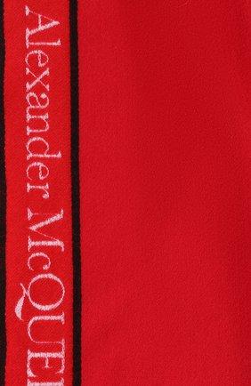 Мужские шарф из шерсти и кашемира ALEXANDER MCQUEEN красного цвета, арт. 626236/3777Q   Фото 2