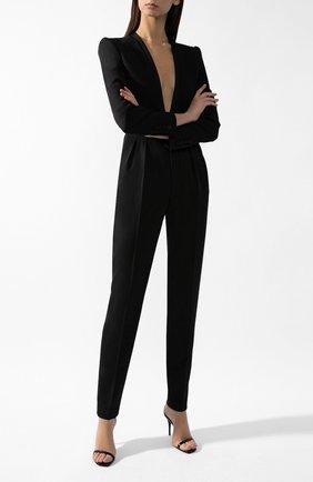 Женский шерстяной комбинезон SAINT LAURENT черного цвета, арт. 628612/Y512W | Фото 1