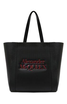 Женская сумка-шопер ALEXANDER MCQUEEN черного цвета, арт. 630773/1X3G2 | Фото 1