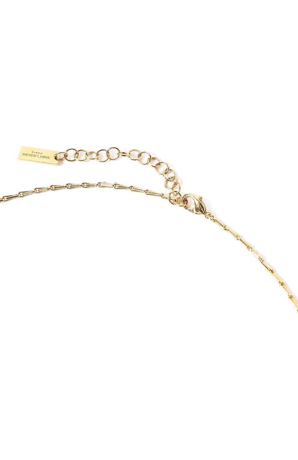 Женское кулон на цепочке SAINT LAURENT золотого цвета, арт. 632072/Y1521   Фото 3