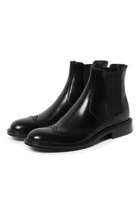 Женские кожаные ботинки army SAINT LAURENT черного цвета, арт. 632416/1Y000 | Фото 1