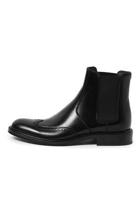 Женские кожаные ботинки army SAINT LAURENT черного цвета, арт. 632416/1Y000 | Фото 2