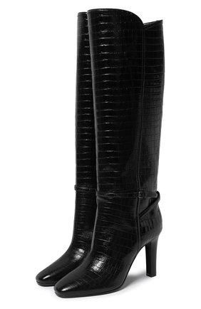 Женские кожаные сапоги jane SAINT LAURENT черного цвета, арт. 632616/1YQ00 | Фото 1