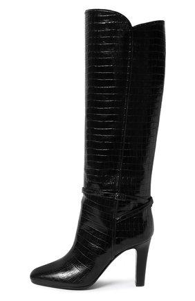 Женские кожаные сапоги jane SAINT LAURENT черного цвета, арт. 632616/1YQ00 | Фото 2