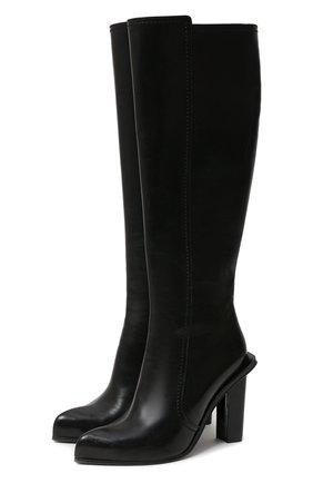 Женские кожаные сапоги ALEXANDER MCQUEEN черного цвета, арт. 633488/WHWQ1 | Фото 1