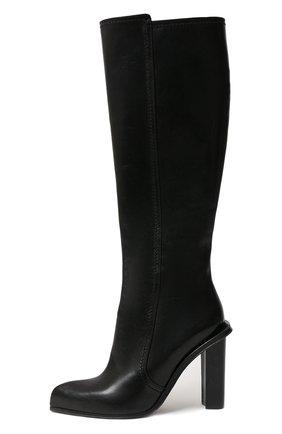 Женские кожаные сапоги ALEXANDER MCQUEEN черного цвета, арт. 633488/WHWQ1 | Фото 2