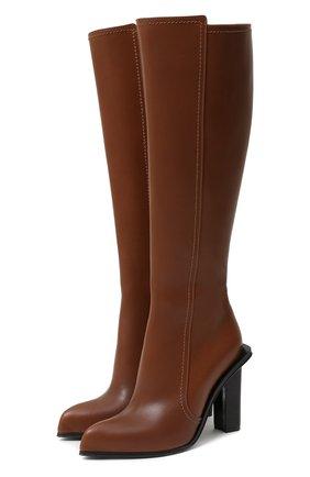 Женские кожаные сапоги ALEXANDER MCQUEEN коричневого цвета, арт. 633488/WHWQ2 | Фото 1