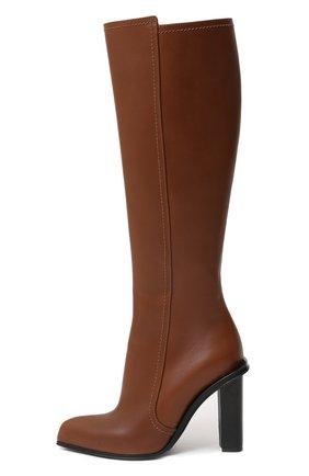 Женские кожаные сапоги ALEXANDER MCQUEEN коричневого цвета, арт. 633488/WHWQ2 | Фото 2