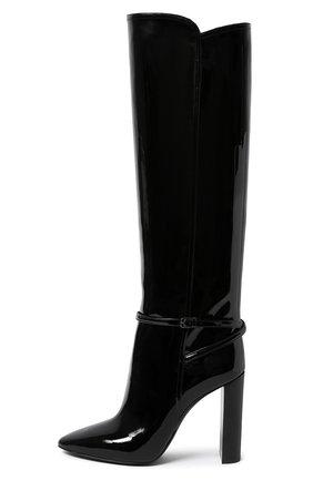 Женские кожаные сапоги SAINT LAURENT черного цвета, арт. 633727/1TV00 | Фото 2